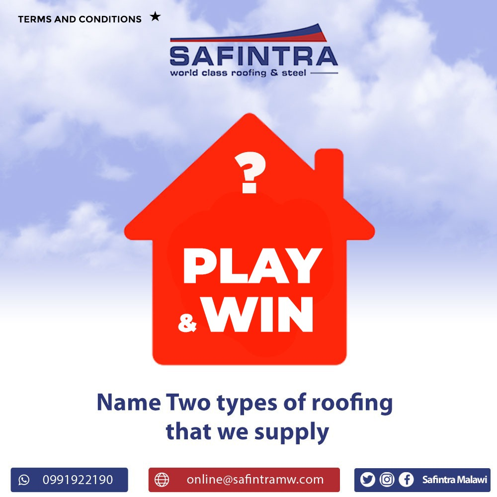 Name two types of roofing sheets that we...