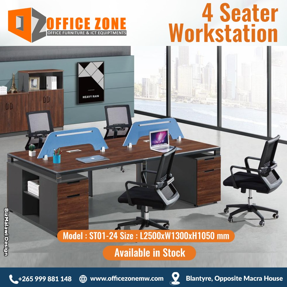 4 seater workstation.
