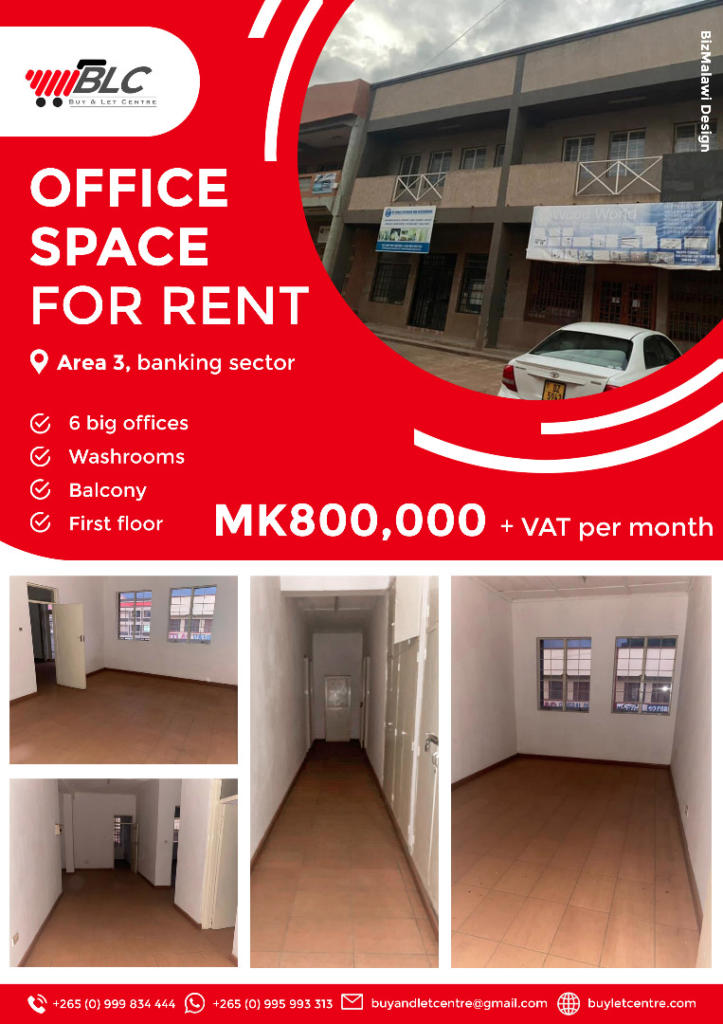 OFFICE SPACE FOR RENT.