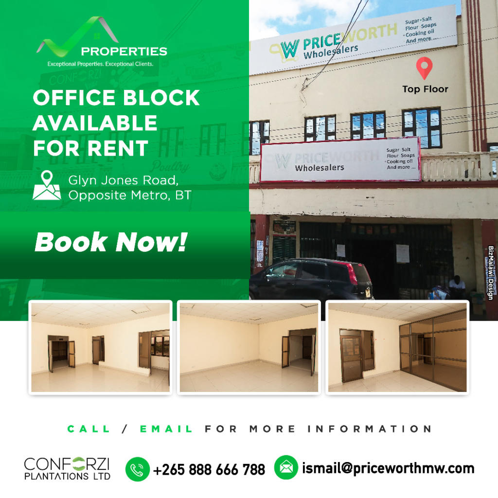 Office block available for rent.