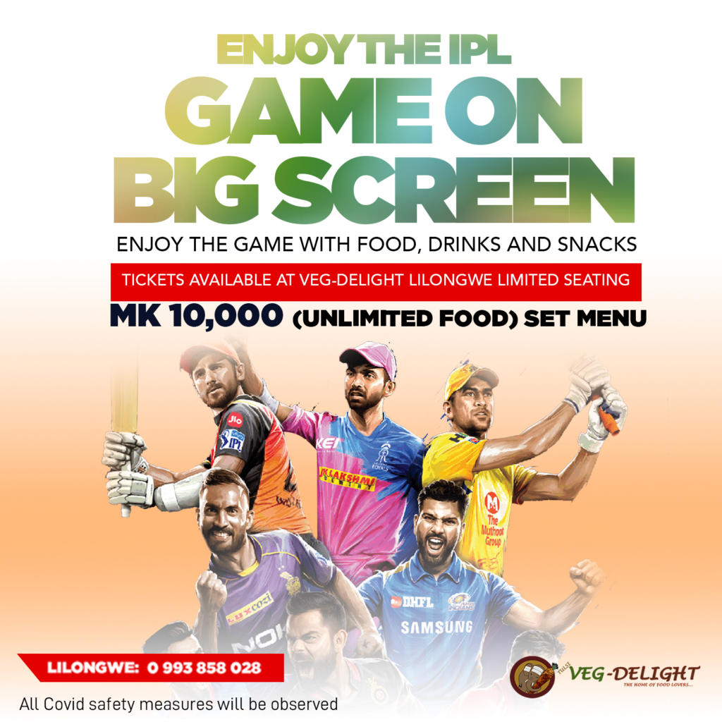 Enjoy the IPL game on big screen.