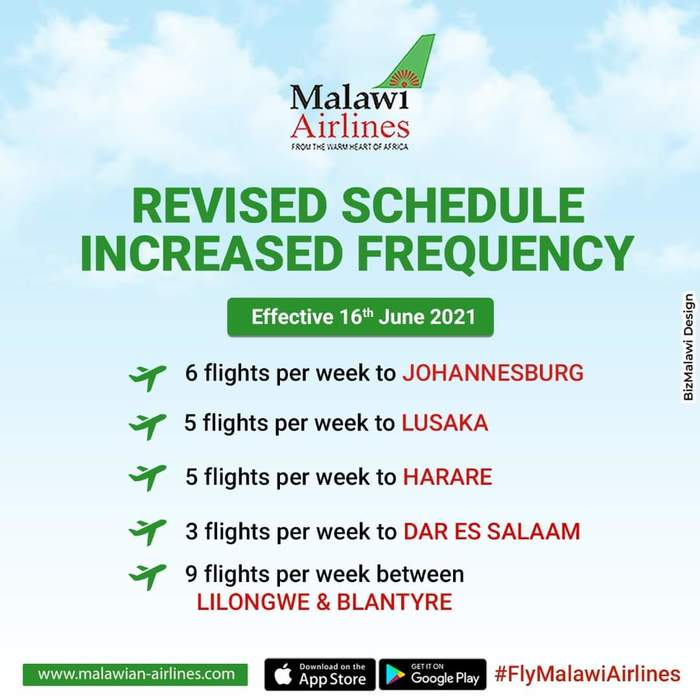 Malawian Airlines Increased Frequency...