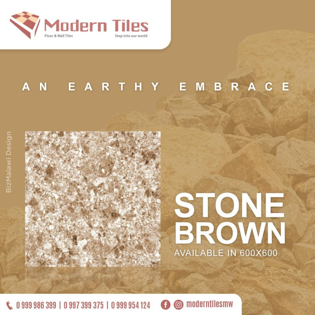 Stone brown tiles add a vibrant touch to...