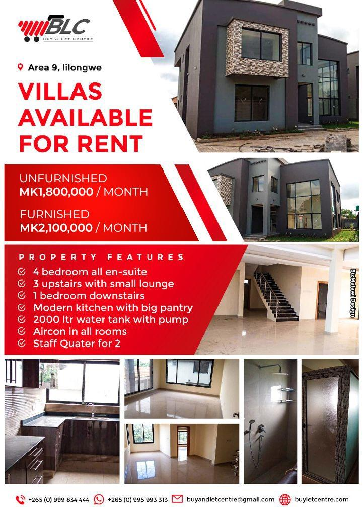 Furnished and unfurnished Villas availab...