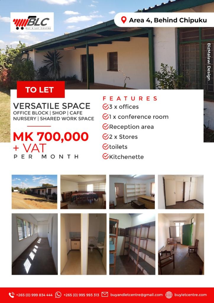 Versatile space available to let in Area...